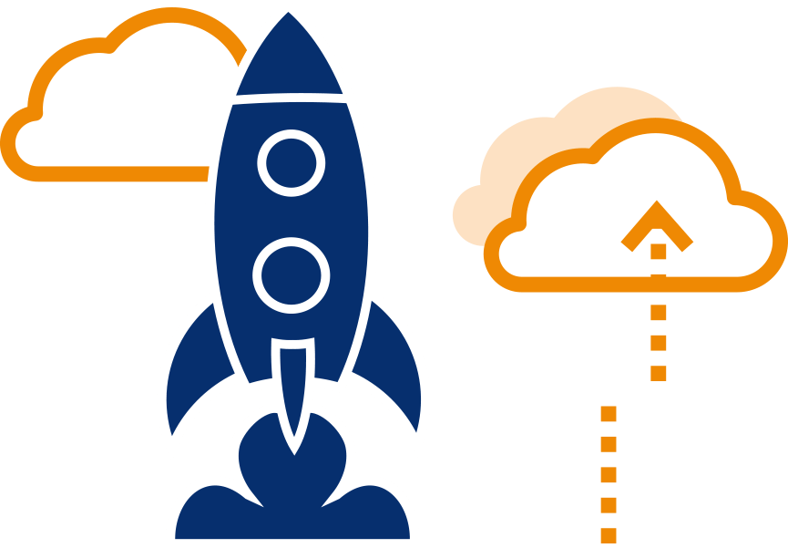 graphic of rocket ship