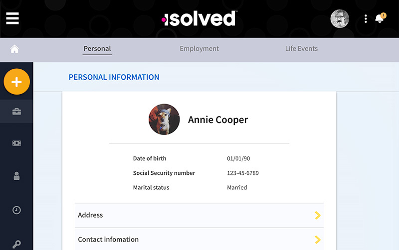 Employee Information Screenshot