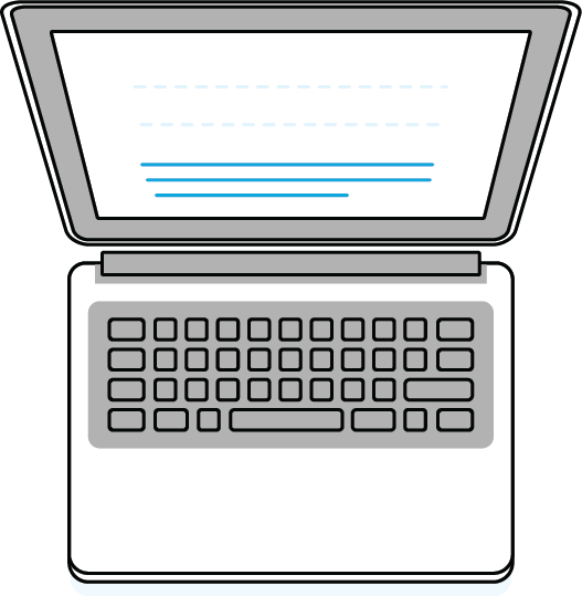 drawing of a laptop